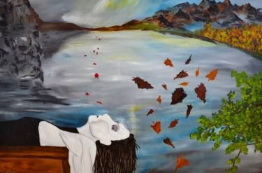 """Saatchi Art Artist Nicole Theresia Spitzwieser; Painting, """"chill out"""" #art"""