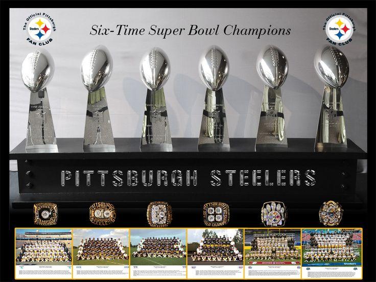 superbowls | 2010 steelers wallpaper six superbowls rings trophys photo