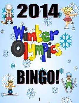 FREE! Winter Olympics Bingo Game Activity