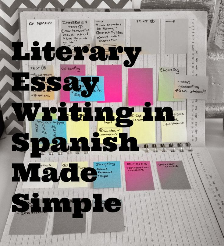 teaching essay writing in spanish