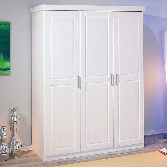 Armoire 3 portes Idaline blanchie - Armoires - Chambres adultes - Chambre Rangement