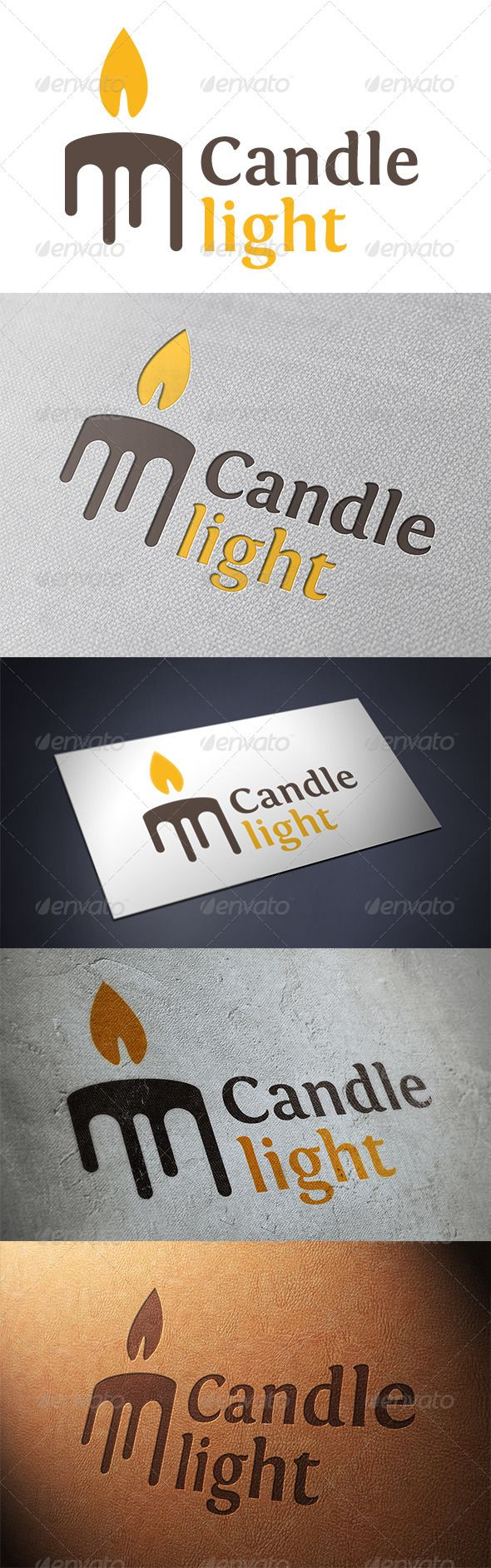Candle Logo Template — Vector EPS #candlelight dinner #light energy logo • Available here → https://graphicriver.net/item/candle-logo-template/5374966?ref=pxcr
