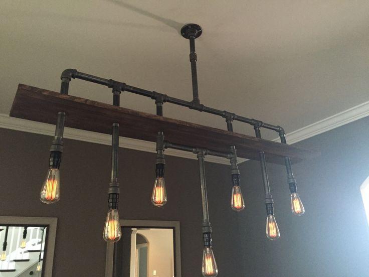 industrial pipe chandelier the bradford steampunk pinterest tuyauterie industrielle. Black Bedroom Furniture Sets. Home Design Ideas