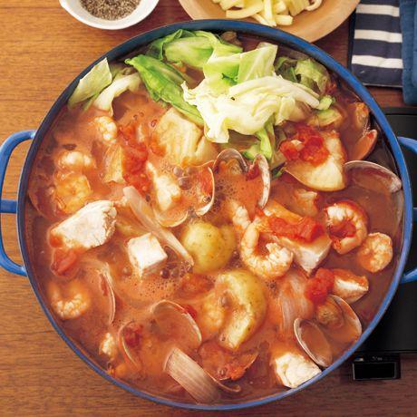 トマトシーフード鍋 | 重信初江さんの鍋ものの料理レシピ | プロの簡単料理レシピはレタスクラブニュース