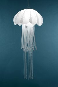 One of the Medusae Collection from Roxy Russel Designs.  Beautiful jellyfish-inspired lamps.  http://roxyrussell.bigcartel.com/product/medusa-pendant-lamp