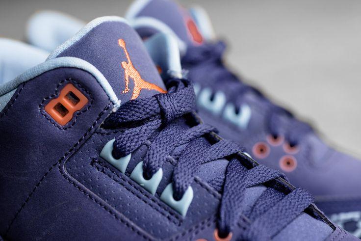 8514504191a ... Air Jordan III (3) Azure Custom Sneakers Pinterest Jordan iii