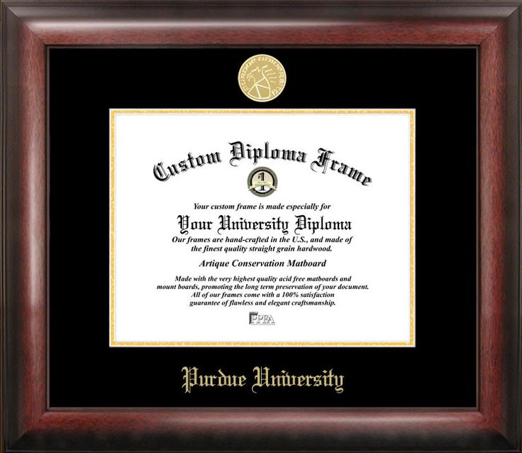 NCAA Purdue University Diploma Picture Frame
