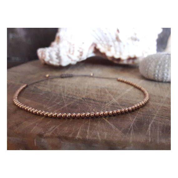 Rose gold bracelet/rose gold jewellery/rose gold beaded