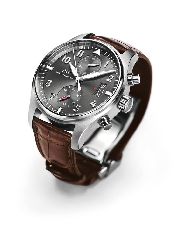 ♠ IWC Spitfire Chronograph watch. Love the watch but way too expensive for something that just tells time. great pin! #gifts #deals #watches