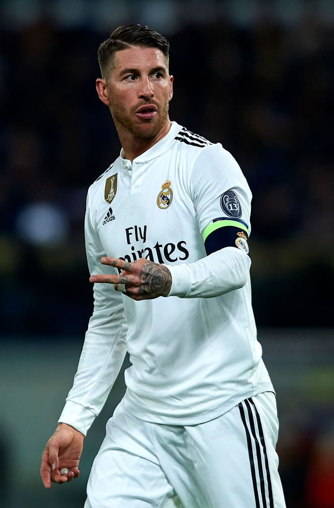 Sergio Ramos Of Real Madrid Reacts During The Group G