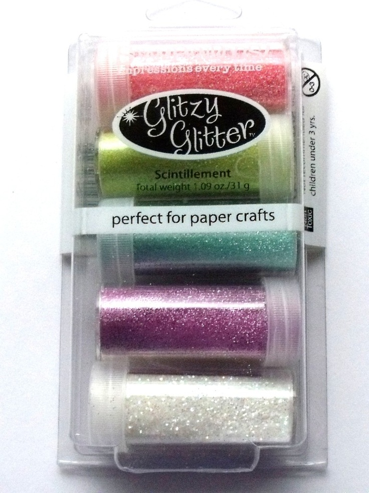 STAMPENDOUS GLITTER KIT - PRETTY PRINCESS  Add glitzy accents to cards, scrapbook pages and crafts. Apply over glue, tape or adhesive sheets. The kit contains 5 x 35g glitter pots, Rose, Melon, Mint Green, Lavender, Multi Crystals.