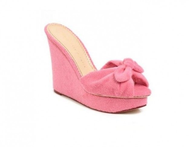 Charlotte Olympia, zeppe rosa Jayne
