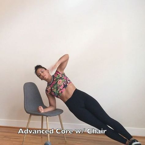 """4,156 Likes, 45 Comments - Carmen Morgan (@mytrainercarmen) on Instagram: """"Advanced Core Work w/ a ChairAlrighty here's your 2nd version, this one is more advanced. Both…"""""""