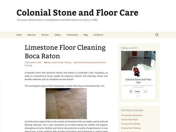 Limestone Floor Cleaning Boca Raton