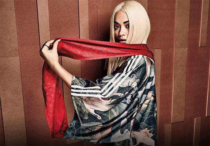 Gorgeous kimono from the Asian Arena line by Rita Ora x Adidas Originals.