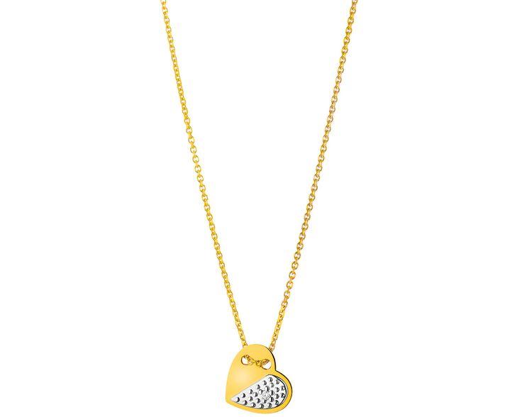 Naszyjnik z żółtego złota z brylantem | Apart