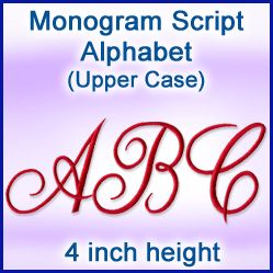 Machine Embroidery Designs at Embroidery Library! - Monogram Script Alphabet