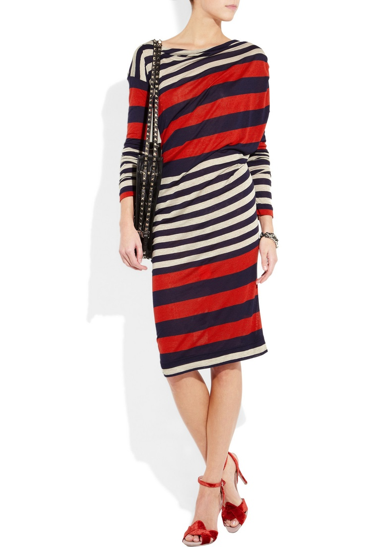 VIVIENNE WESTWOOD ANGLOMANIA  Toga striped jersey dress  £260: Anglomania Togas Stripes, Stripes Jersey, Westwood Anglomania Togas, Westwood Anglomaniatoga, Striped Jersey, Anglomaniatoga Stripes, Vivienne Westwood, Jersey Dresses, Stripes Dresses