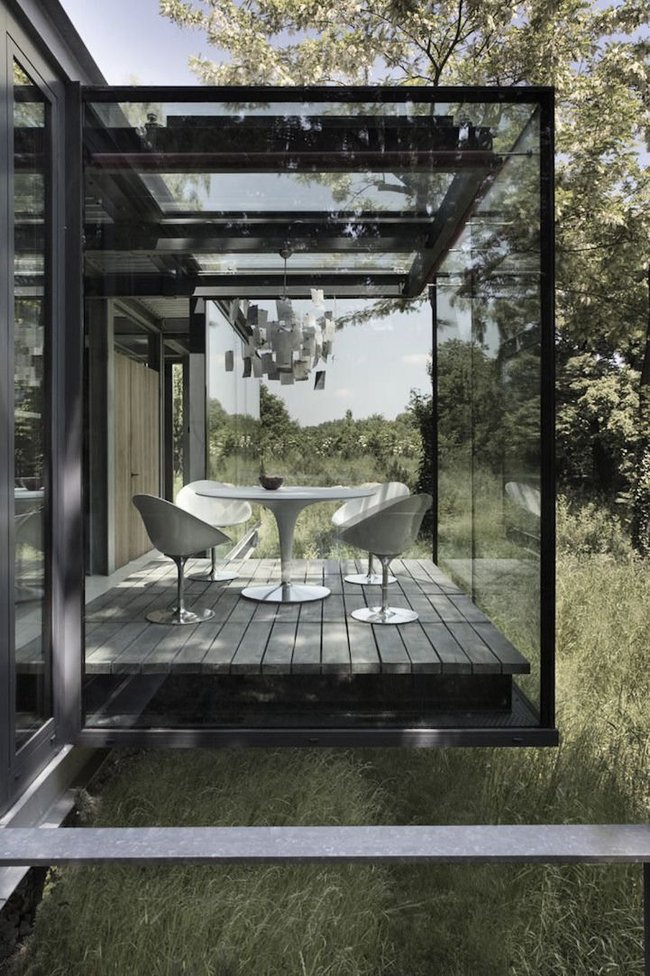 Stunning Glass + Stone Jodlowa House near Krakow in Poland by London-based Architects PCKO and local architect MOFO