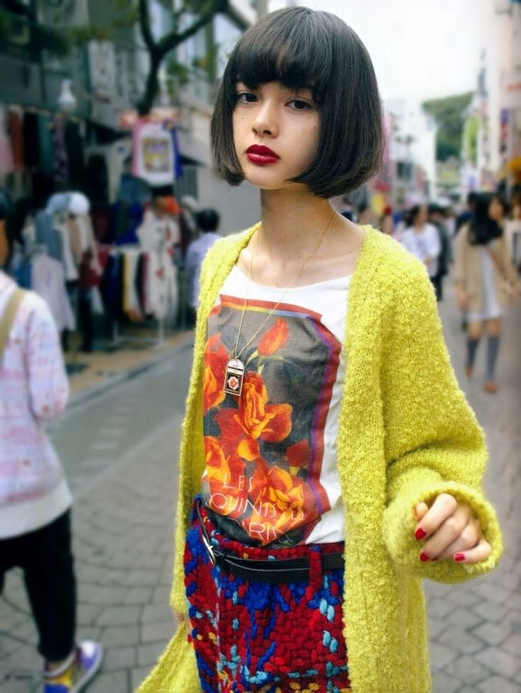 Love everything. Hair. cardigan. face. tee-- I'm having one of those days where I wish I could have this haircut... haha.