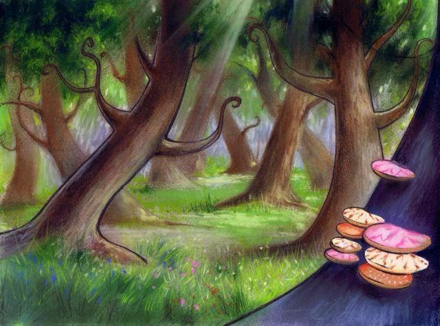 Escenario que ilustra El Bosque , para el musical El Mago ...