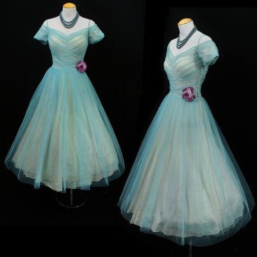 Vintage 50s Tulle prom dress...