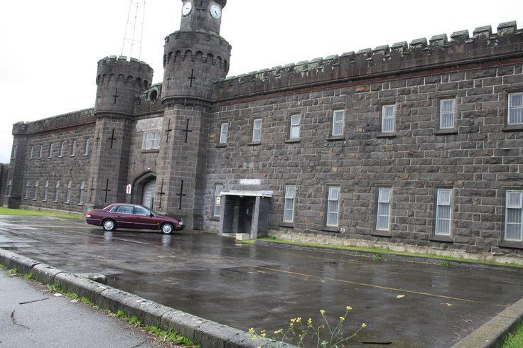 The front wall of the old Pentridge Prison in Coburg, Melbourne Australia... the prison is gone now and most of the prison grounds is now a housing estate.