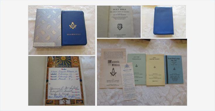 #Vintage #Masonic #Bible Great Light in #Masonry #gotvintage #books #freemasons