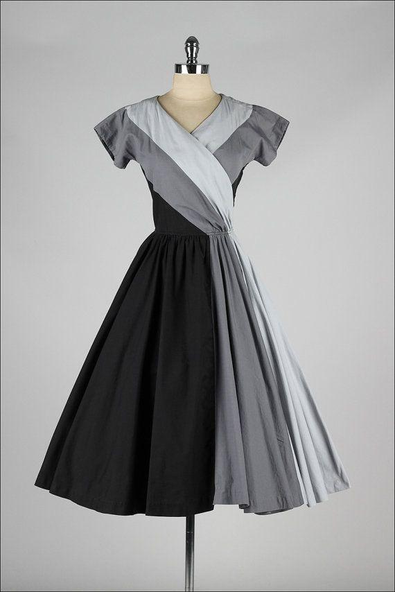 1950's Color Block Dress