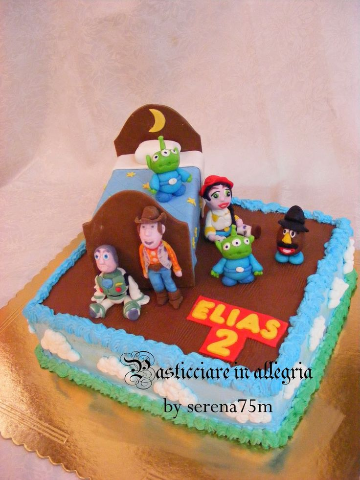 pasticciare in allegria: Torta Toy Story + biscotti decorati Toy Story
