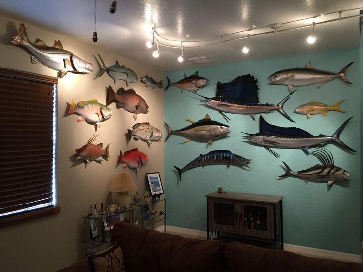 Man cave fishing room decor