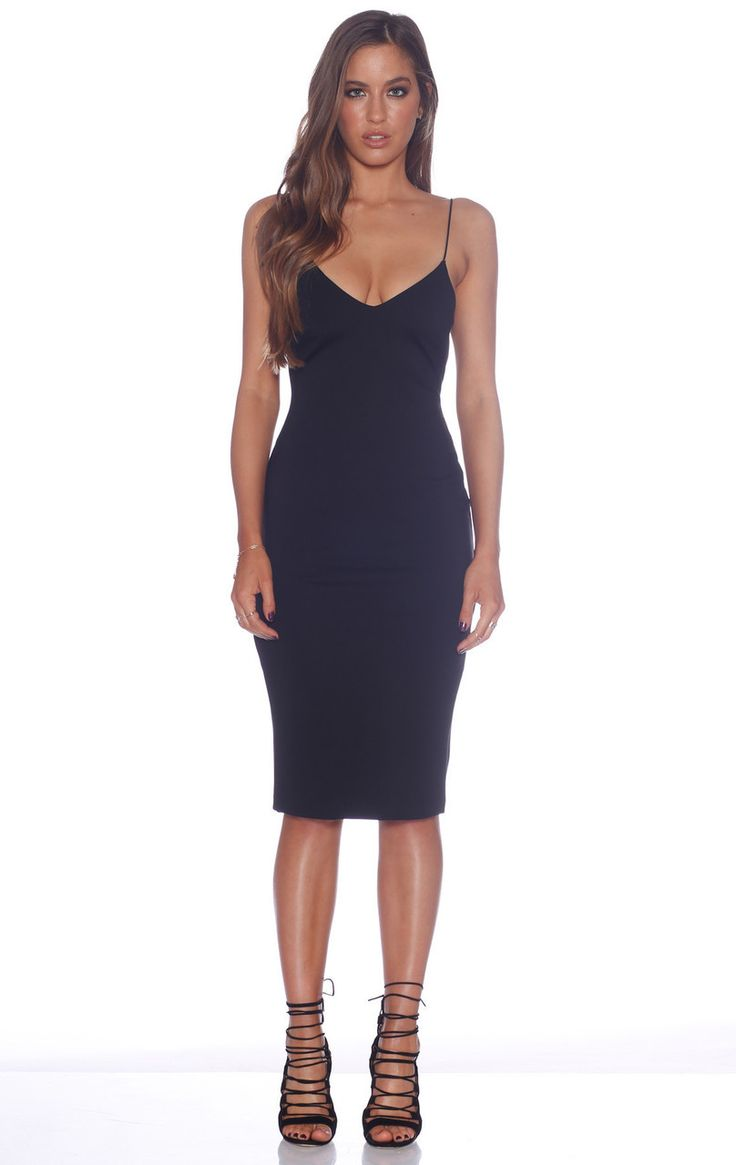 AGUA PLUNGE DRESS - Siss & Co.
