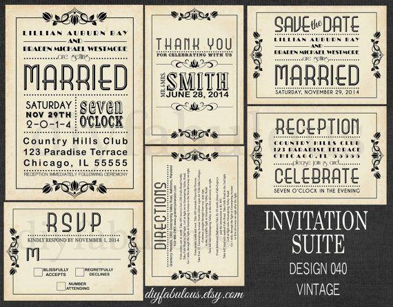 DESIGN 040 VINTAGE Subway Wedding Vintage Wedding by DIYFabulous, $15.00