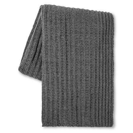 "Radiant Gray Throw Blanket Chenille (50""x60"") Threshold™ : Target"