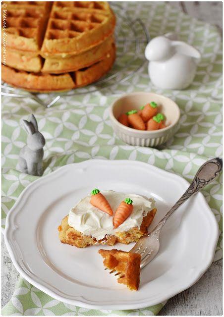 Carrot Cake Waffles mit Mascarpone Frosting II