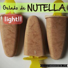 Receitas de Dieta: Gelado de Nutella Light (apenas 75 calorias!)
