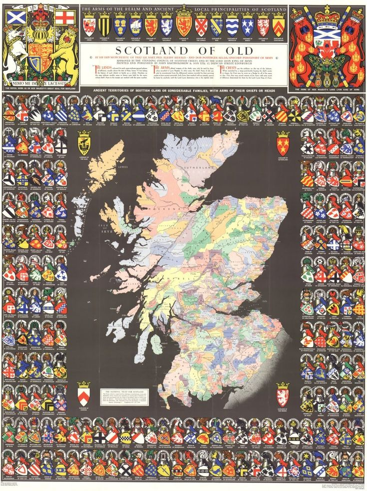 scotland of old clan map | Collins Maps Blog: Map of the Month Nov 09 - Clan Map of Scotland