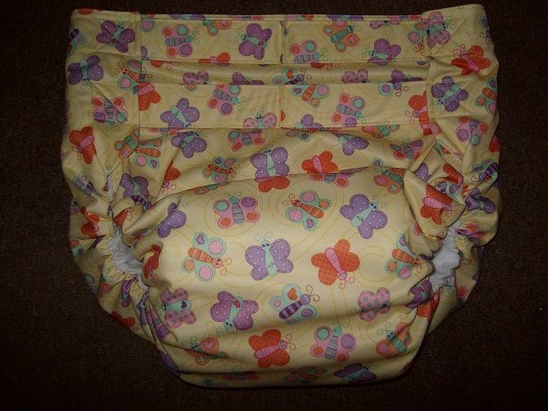 All In One Pul Print Adult Diaper Baby Butterflies