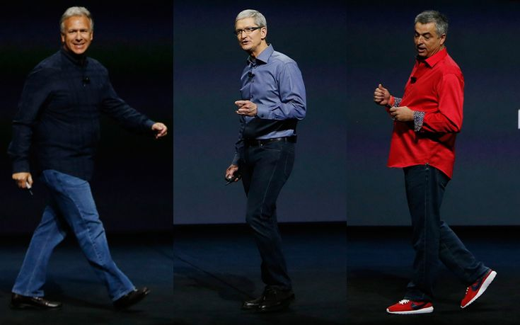 Among the many highlights of Apple's launch event this week was the fact that   so many of the men on stage were wearing near identical casual outfits