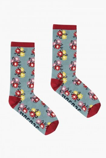 Floral Feet Socks Womens | Lovely floral patterns for your feet. In beautifully soft and breathable bamboo, warm in the winter and cool in the summer.