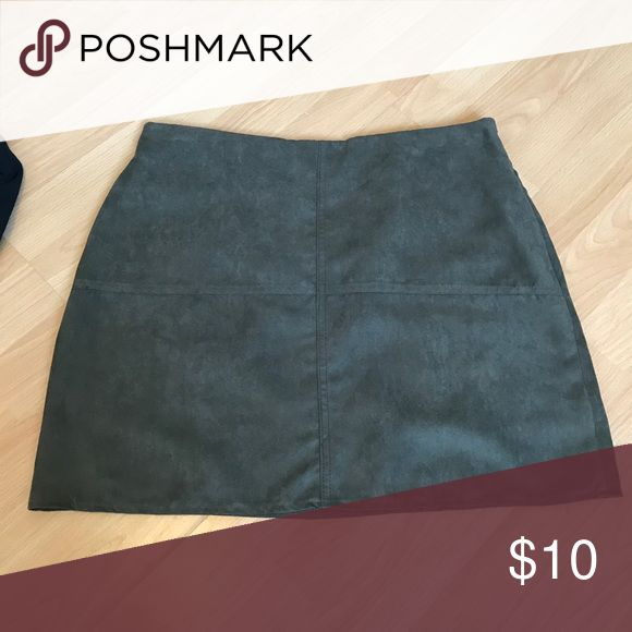 Faux Suede Skirt Size 10 but fits more like a 6/8. Never worn. Primark Skirts Mini