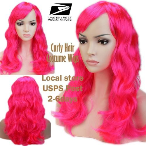 US-Mail-Sexy-Long-Fancy-Dress-Wigs-Play-Costume-Ladies-Full-Wig-Party-XMAS-Sale