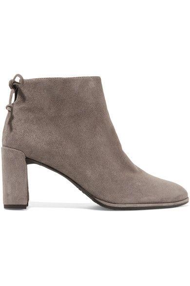 Stuart Weitzman - Lofty Suede Ankle Boots - Gray - IT38.5