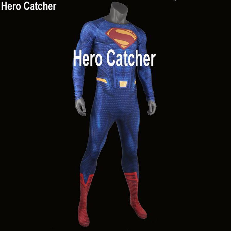 Hero Catcher High Quality 3D Logo Superman Costume Man Of Steel Suit Muscle Shade Superman Suit #Affiliate