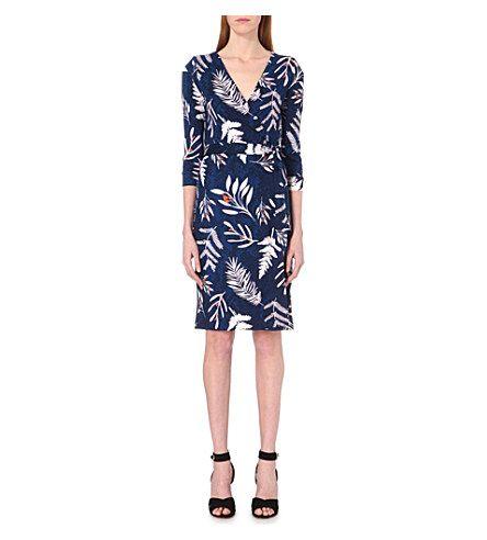 DIANE VON FURSTENBERG - New Julian silk wrap dress | Selfridges.com