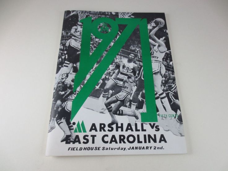 Vintage 1971 MARSHALL UNIVERSITY VS EAST CAROLINA Basketball Game Program #MarshallUniversity