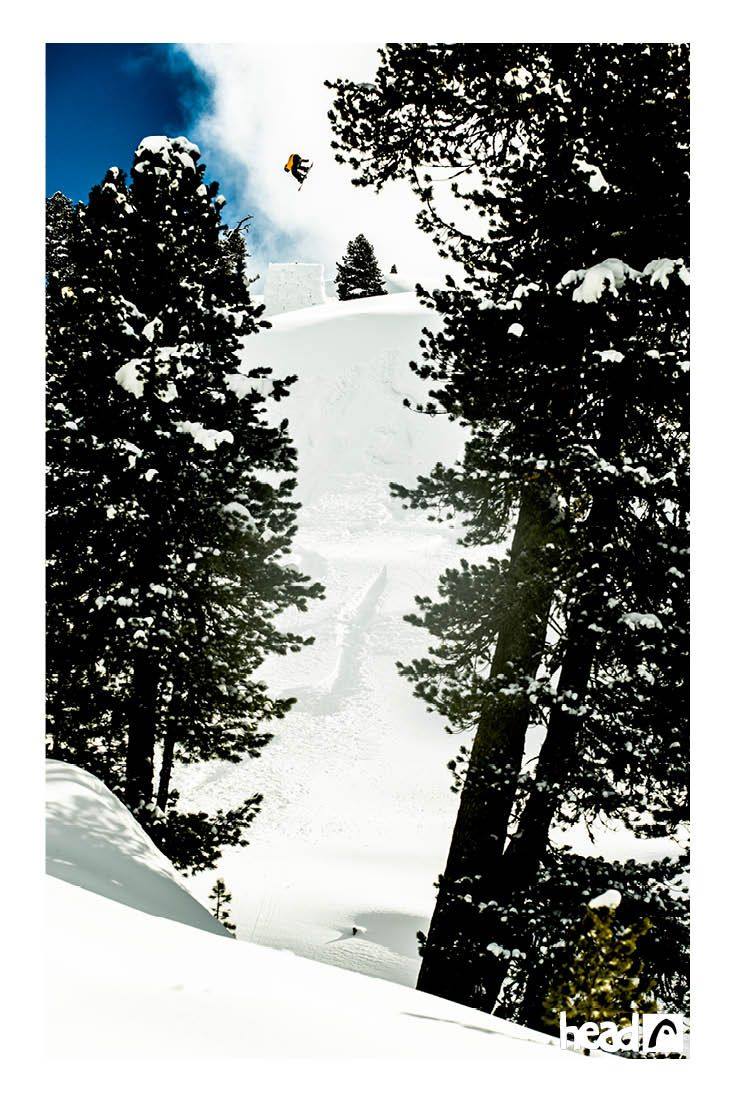 'Can you find Fredrik Evensen between the trees?' //ridehead //head snowboards