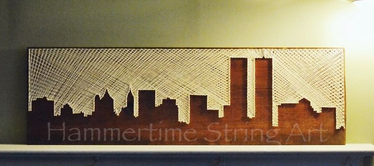 World Trade Center Towers String Art decor Skyline