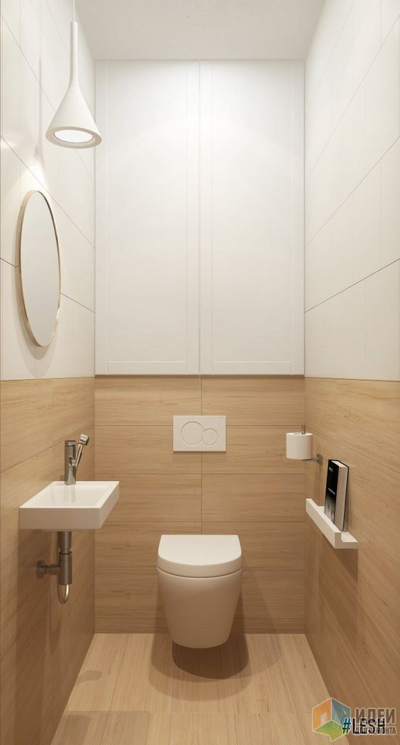 В туалете также сделана зона для хранения.