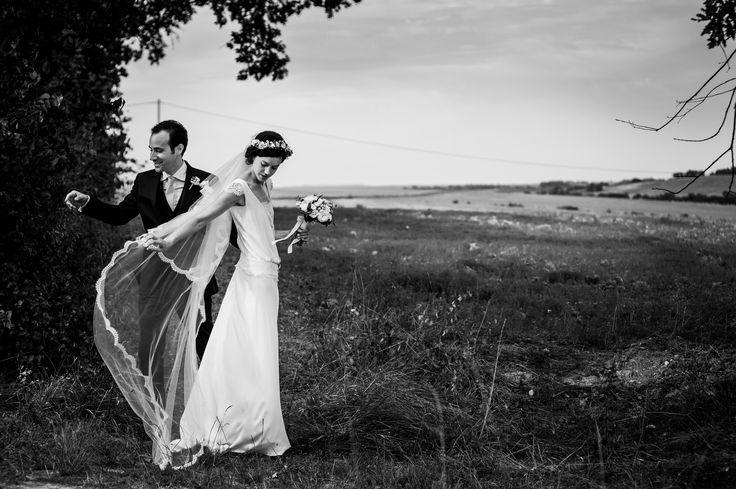 Notre belle Elsa dans sa robe Frehel - Stéphanie Wolff Paris crédit photo : Emmanuel Bergère #stephaniewolffparis #collectionsignature#robedemariéebohemechic